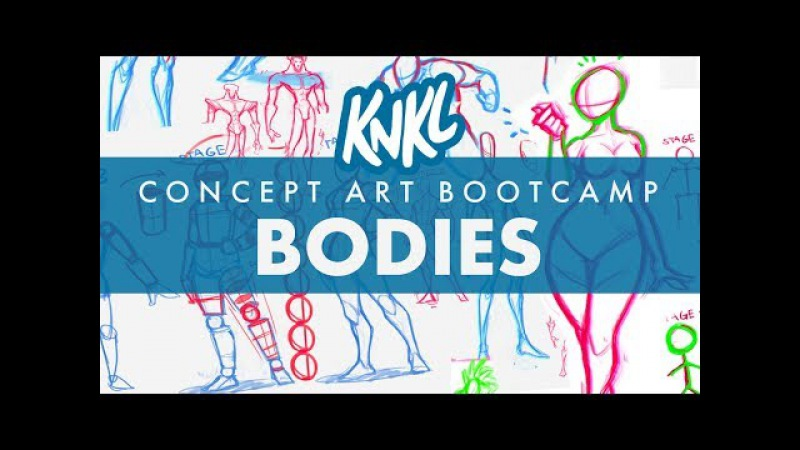 Concept Art BOOT CAMP 6: Concept Art Bodies (6 STAGES to stylish, balanced forms for concept art!)