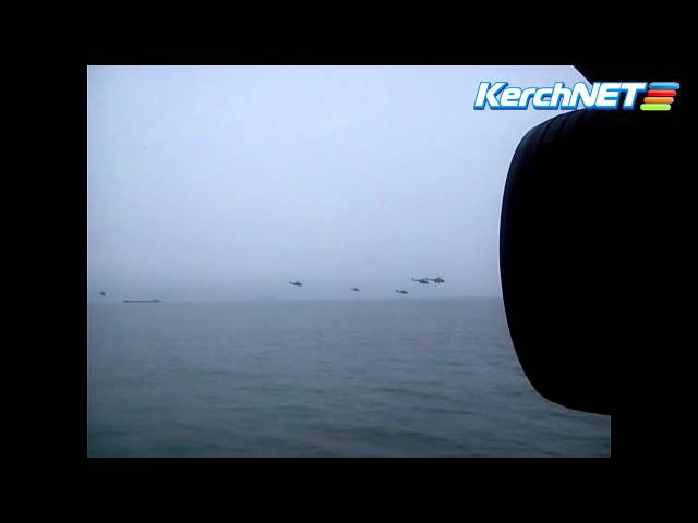 Вертолеты над Керченским проливом (01.03.2014)