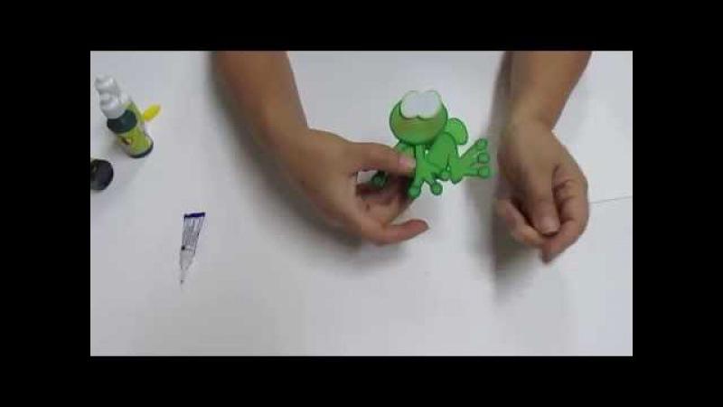 DIY Lapiz Pluma Sapito Filigrana en Foami, Goma Eva, Microporoso, Easy Crafts