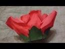 Шапочка из гофр.бумаги Роза часть3