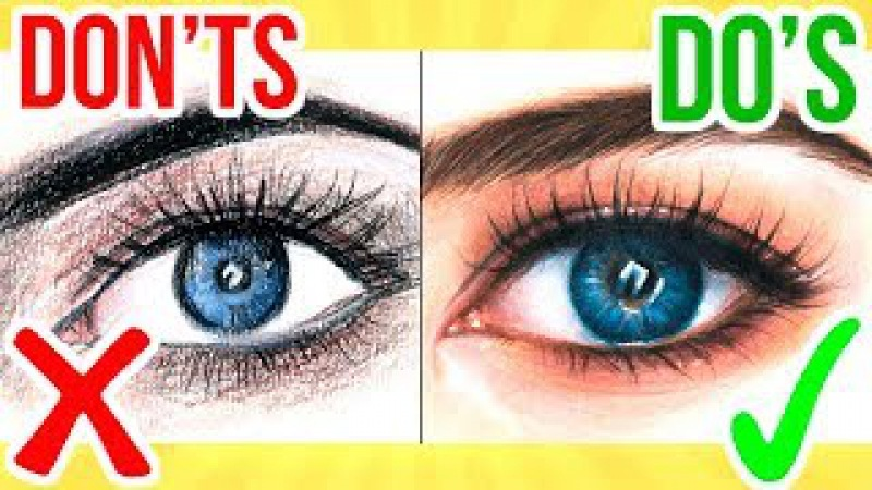 DO'S DON'TS How To Draw a Eye using Coloured Pencil Step By Step Drawing Tutorial