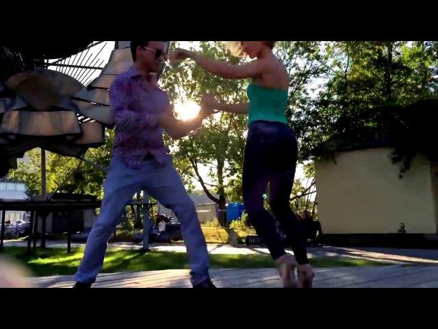 Sebastian Arce-Los Rosales Dance Street Tango in Moscow by Alex