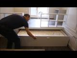 Подиум в квартире студии с выкатной кроватью 140х190