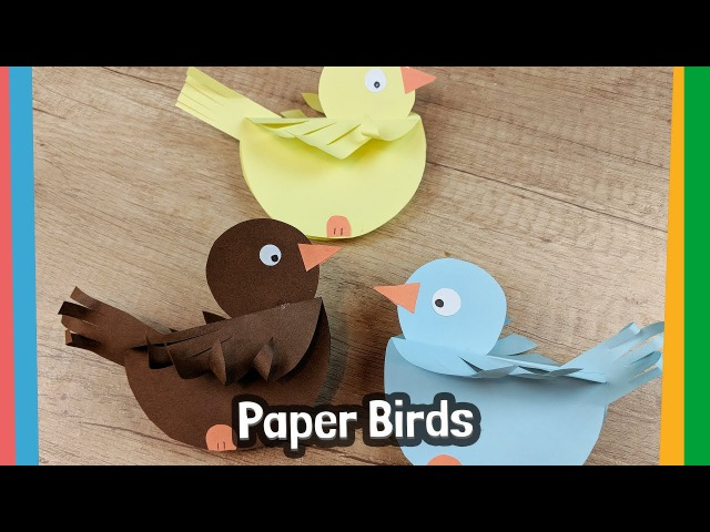 How to make paper Birds simple craft activity for kids