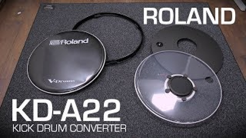 Roland KD-A22 kick drum converter: Assembly tutorial, close up playing by drum-tec