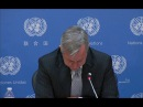 UN worker cries during child sex abuse allegations announcement