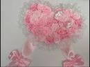 БАНТ на ВЫПИСКУ из РОДДОМА. Розы из Лент МК. / Bow Ribbons /DIY/Tutorial/Kanzashi