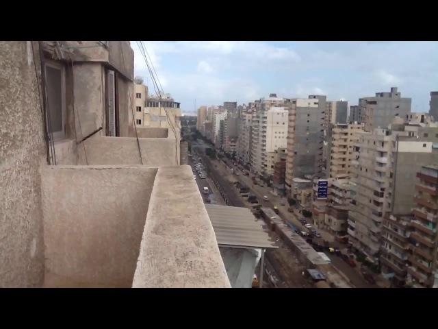 Александрия, Египет. Вид с балкона. 1/5 часть. 11.12.2013, 12:09