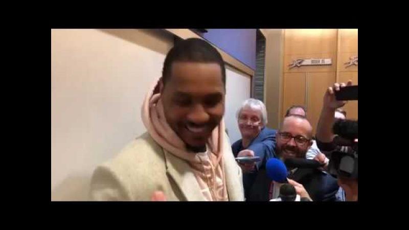 Carmelo Anthony on Going up Against LeBron Cavaliers vs Thunder Feb 13 2017 18 NBA Season