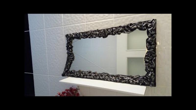 Eski Bez ve Gazetelerle Şık Aynalar Yapalım