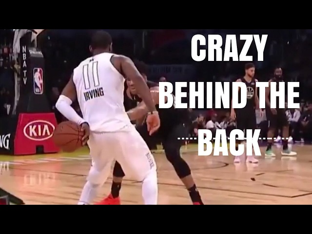 Kyrie Irving behind the back fake on Giannis 2018 NBA All-Star Game
