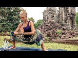 Yoga For Tight Hips & Flexibility ♥ Mind- Body Release | Khmer Temple Ruins