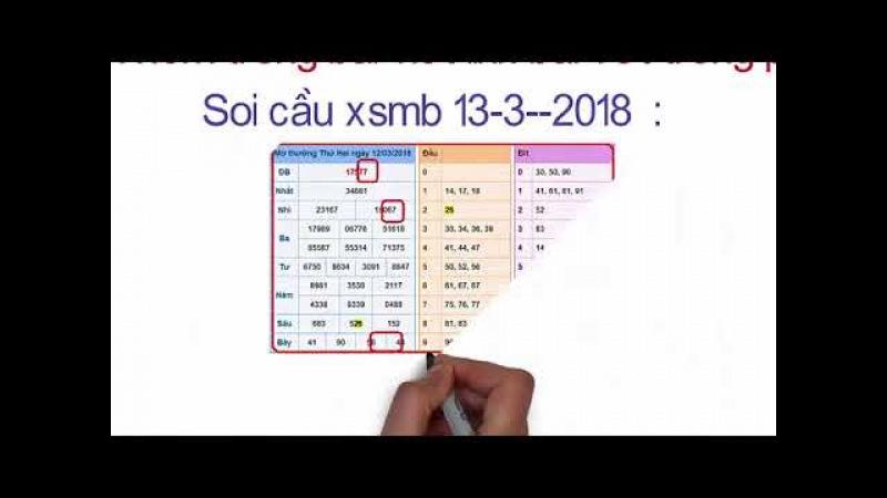 Soi cầu xsmb 13-3-2018 - Dự đoán bạch thủ MB chuẩn xác hôm nay