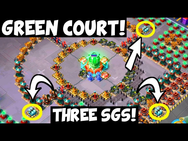 Green Court: Three SGs in One Hit! Finishing hit! ✦ Boom Beach