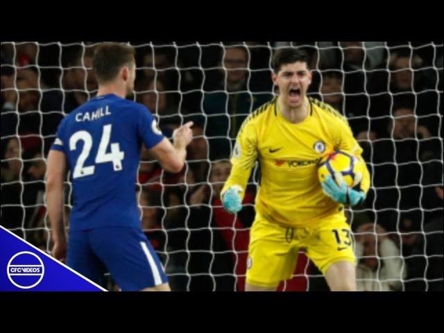 Thibaut Courtois • All Saves vs Arsenal 2018 vk.comchelsea