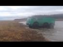 Вездеход Леший 6х6 на колесах К 700 по реке