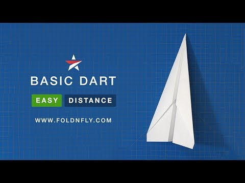 ✈ The Easy and Classic Paper Airplane - The Basic Dart - Fold 'N Fly