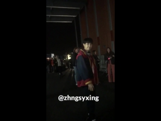 170919 Tommy Hilfiger Fashion Show Leaving @ EXO's Chanyeol
