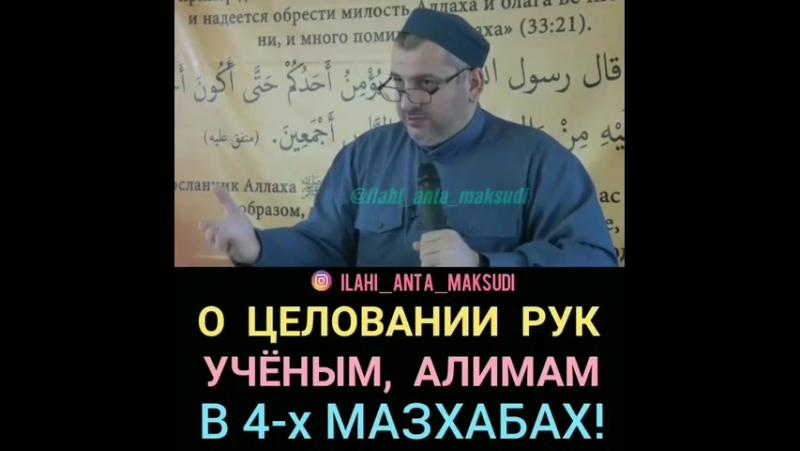 О целовании рук ученым Ислама