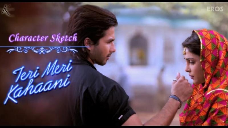 Шахид и Приянка на съемках Наши истории любви