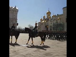 Кремлевский развод караула Президентского полка.