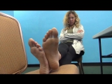43 year old business woman shows her big soles ( US 12, EU 45)