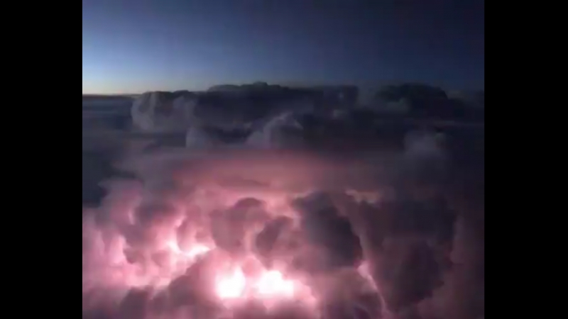 Spectacular airborne view of intracloud lightning over Champagne-Ardennes (France-Belgium)!