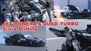 Video Option VOL.291 — Caroline Racing Jet Powered Quad-Turbo Silvia S14 Drifting at Mobara Twin Circuit.
