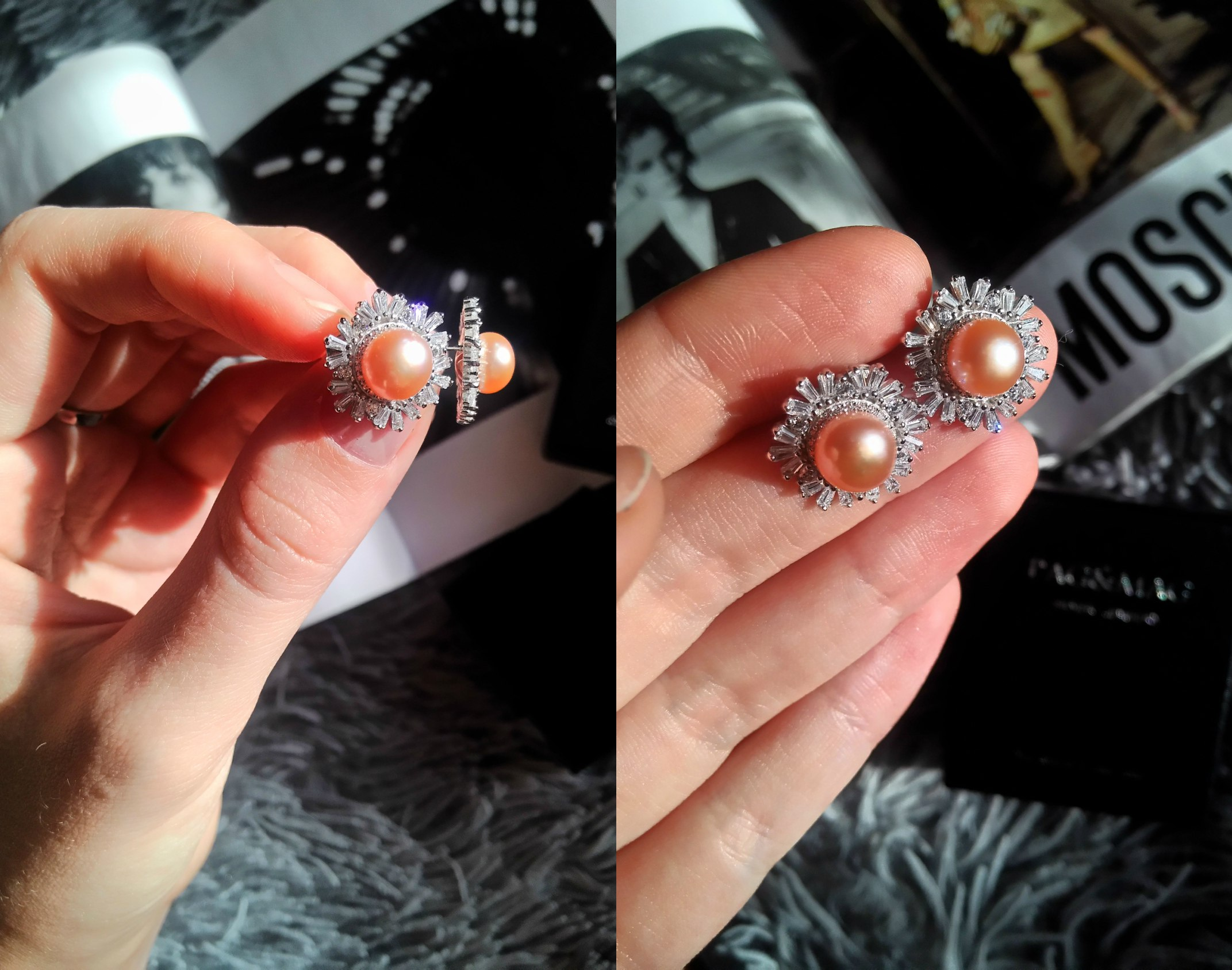 Шикарные серьги и кольцо с натуральным жемчугом