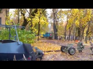 Реконструкция военно-исторических событий 1941 года в Калуге.