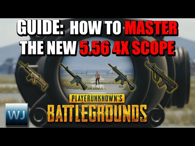 GUIDE: How to MASTER the NEW 5.56 4X Scope (Aim points Range Finder) - PUBG