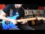 Melodic hard rock shred guitar solo improvisation