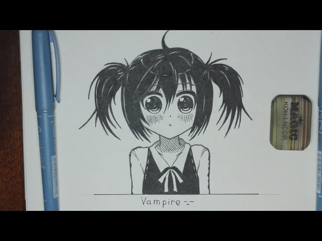 Рисуем Аниме Девушку | Anime Girl Speed Drawing