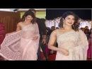 Priyanka Chopra SIZZLES in a golden shimmery saree