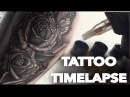 TATTOO TIME LAPSE REAL TIME REALISTIC BUTTERFLIES AND ROSES INCLUDING DESIGN CHRISSY LEE