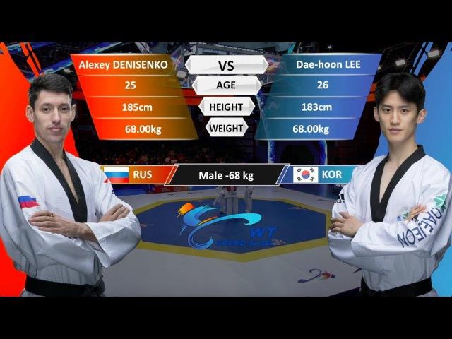 M-68kg Semifinal | Daehoon Lee (KOR) VS Alexey Denisenko (RUS) | WT Grand Slam Finals
