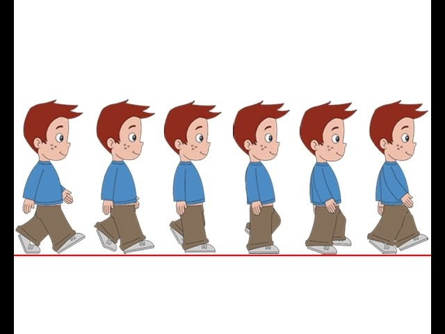 Flash Animation Tutorial - Character Walk Cycle Part-2