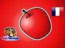 Яблоко красное - (Французский) Учите цвета. Выучите цвета. Детские дошкольные песенки
