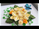 Paper Quilling Flower For beginner Learning Video 15 Paper Flower Card