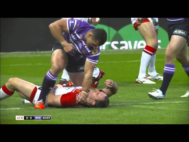 Ben Flower Brutally Attacks Lance Hohaia and gets sent off in Rugby Super League Grand Final