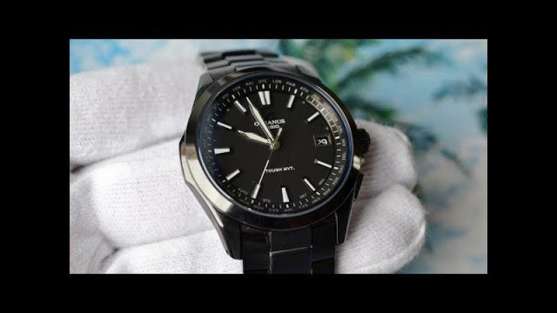 Чёрная сотка Casio Oceanus OCW-S100B-1AJF
