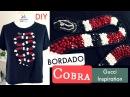 Bordado Cobra da Gucci - com Miçangas e Paetês - DIY