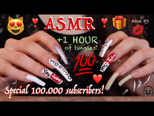 ❤️Surprise for 100.000 subscribers 1 HOUR of intense binaural ASMR! With face reveal? WATCH IT!❣️💯🎧