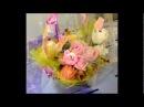 сладкие букеты из конфет и фигурки из цветов