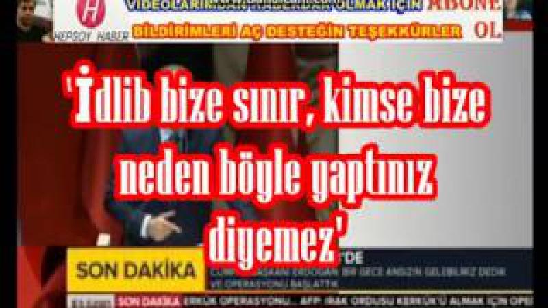 SON DAKİKA (Recep Tayyip Erdoğan Konuşması) Kimse neden yaptınız diyemez