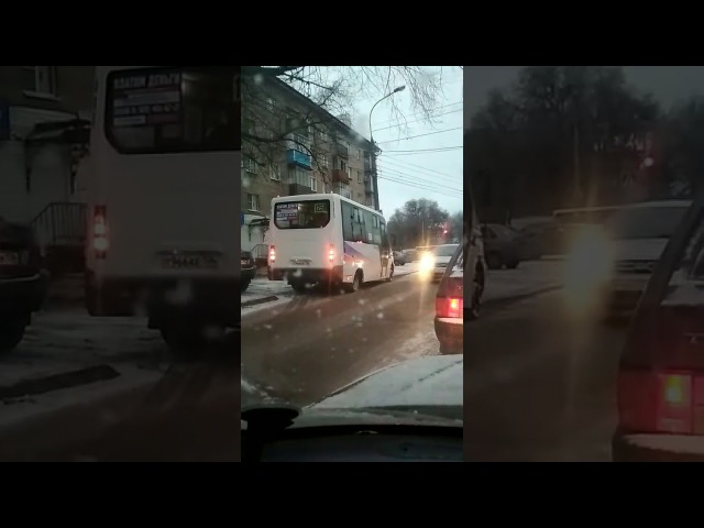 Наглый маршрутчик на встречке, Воронеж