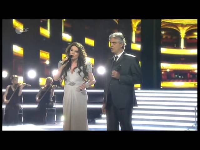 Sarah Brightman Andrea Bocelli - Time To Say Goodbye - live on German TV, April 13, 2013