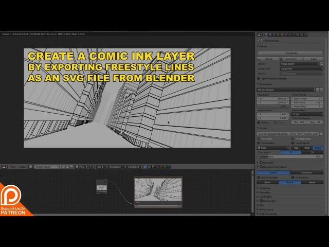 Export SVG from Blender