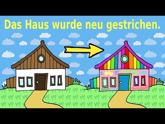 Deutsch lernen Aktiv und Passiv German for children and beginners active passive