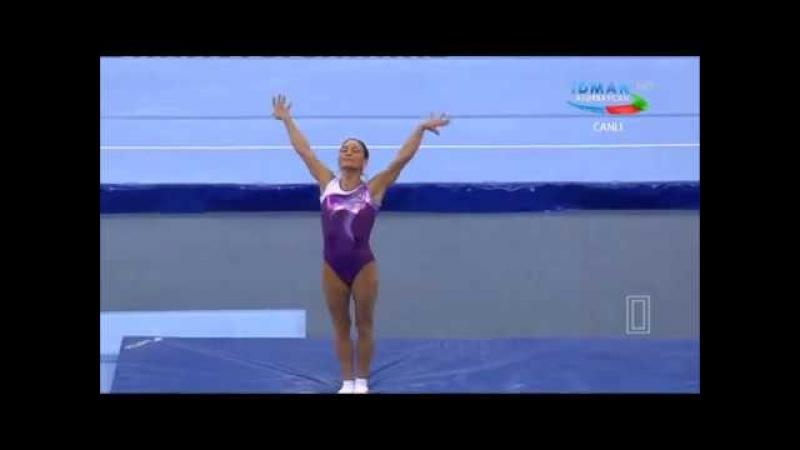 Oksana Chusovitina (UZB) BB Qual - 2018 Baku World Cup
